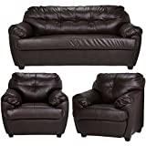 #4: Furny Rosabelle Five Seater Sofa Set 3-1-1 (Brown)