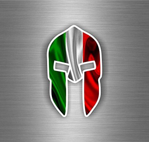 �r Auto, Motorrad, Spartanischer Krieger und italienische Flagge (Trojan Krieger)