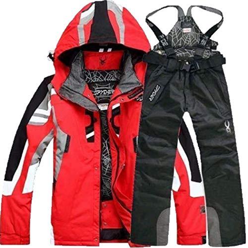 Edited tuta da sci da uomo inverno large size giacca da alpinismo antivento e impermeabile pantaloni da sci outdoor