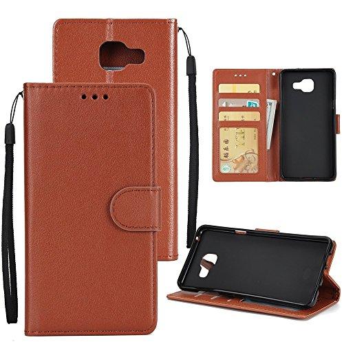 XHD-Phone protection XHD-Telefonschutz für Samsung Mit Lanyard, Card Slot, Magnetic Buckle Öffnen Sie die Phone Shell für Samsung Galaxy A510 Einfach & praktisch (Color : Brown) (Plus Classic Slip Schutz)