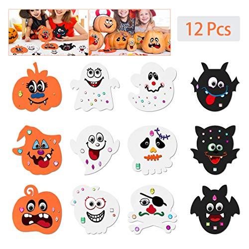 Halloween Schaum - Toyvian Halloween Kürbis Bastelset für Kinder,