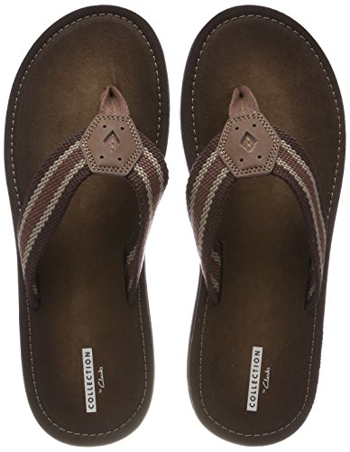 Clarks lacono sun, sandali a punta aperta uomo, marrone (brown), 43 eu