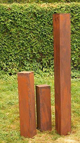 Rostsäulen Gartendeko Rost Familie 150cm, 80cm, 60cm ohne Risse*