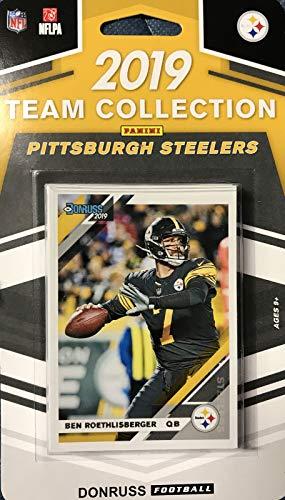 size 40 f555c 6eba6 Pittsburgh Steelers 2019 Donruss Factory Lot de 10 Cartes avec Ben  Roethlisberger, Terry Bradshaw et Un Devin Bush Rated Rookie Plus 7 Autres  Cartes