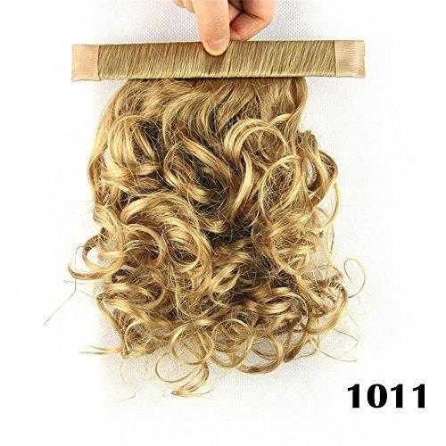 Quibine 28 cm Kurzes gerades gewelltes lockiges Pferdeschwanz Haarverlängerung, 1011# (Halloween Kostüme 1011)