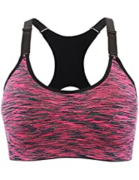 219fab8f5e Srizgo Sports Bra Pack of 1 or 4 Seamless Bras Padded Comfortable Yoga Bras  with Adjustable Straps Push up for…