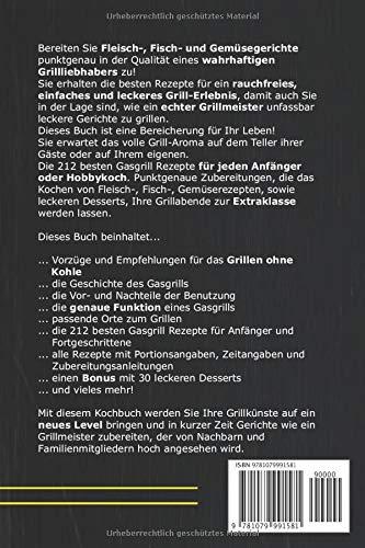 51UtKq6MC9L - Gasgrill Kochbuch: Die 212 besten Gasgrill Rezepte für Grillliebhaber  - rauchfrei, einfach und lecker inkl. 30 Desserts