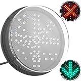 PrimeMatik - LED Licht für Ampel IP65 200mm 12-24V grüner Pfeil und rotes Kreuz