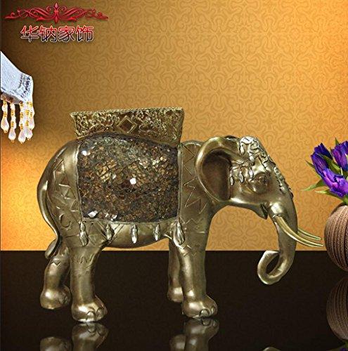 ZYT Asia Sur-Oriental-estilo clásico vidrio sostenedor de vela de elefante