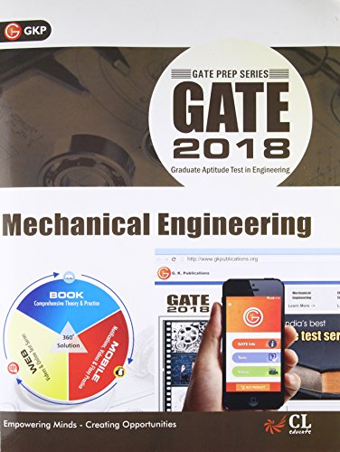 GATE - Mechanical Engineering (2018) Fifteenth Edition price comparison at Flipkart, Amazon, Crossword, Uread, Bookadda, Landmark, Homeshop18