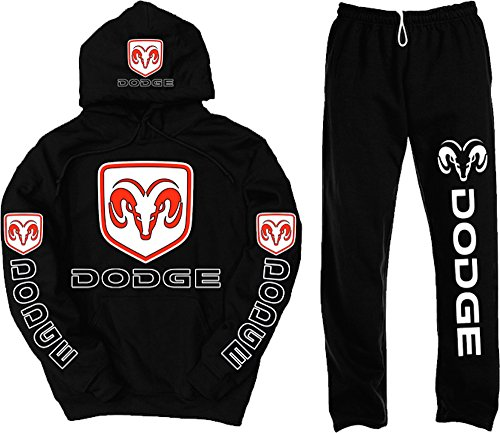 Dodge Logo Set, XXXX-Large Hoodie with XX-Large Sweatpants (Dodge Camo Hoodie)