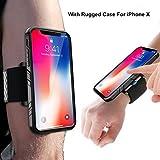 SPORTLINK Run kit pour iPhone X/iPhone XS, Sweatproof Anti-Sueur Brassard Sport Etui Armband Case avec 2 Sangles Réglable pour Running Vélo Jogging Gym Course Sport(Noir)