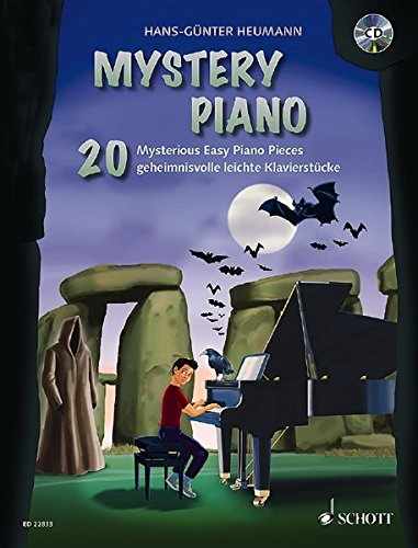 Mystery Piano: 20 Mysterious Easy Piano Pieces. Klavier. Ausgabe mit CD. (Halloween Musik Klavier Noten)