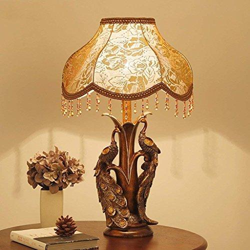 JU Kreative Pfau Tischlampe Europäischen Stil Retro Tischlampe Bett Nachttischlampe Wohnzimmer Dekorative Beleuchtung - Europäischen Stil Wohnzimmer