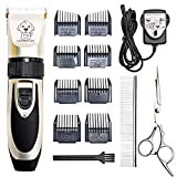 Supmaker Dog Clippers, Low Noise Pet Clippers Rechargeable Cordless Dog Trimmer Pet Grooming