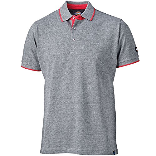 Dickies Anvil Polo Shirt grau, GY M, DT2000 (Dickies-kurzarm Polo Shirt)