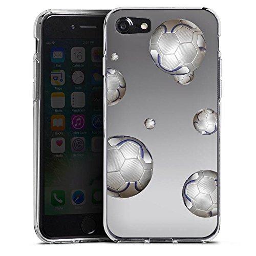 Apple iPhone X Silikon Hülle Case Schutzhülle Fußball Sport Silber Silikon Case transparent