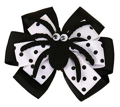 EOZY Halloween Schleifen Haarspangen Kinder Mädchen Niedlich Spinne Haarklammern Haarschmuck Schwarz (Einfach Niedlich Halloween Kostüme Für Kleinkinder)