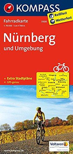 Nürnberg und Umgebung: Fahrradkarte. GPS-genau. 1:70000 (KOMPASS-Fahrradkarten Deutschland, Band 3100)