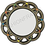 FASHIONFRAME® Decorative Hand Carved Wood Wall Mirror 10 X 10 Inches
