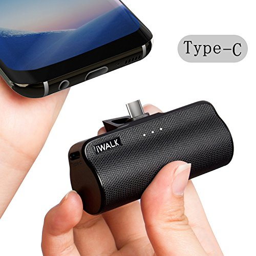 iWALK 3300mAh Tragbare Kompakt Errichtet im USB Typ C Externer Batterie Akku Power Bank Handy Ladegerät für Samsung Galaxy Note8 S8 Huawei Sony LG Lumia Smartphones