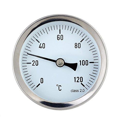 Termómetro de metal Terrario Para liquido,Tipo de puntero Medidor de Temperatura analogico, 0-120°C