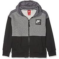 Nike B Nk Air FZ Sudadera, Niños, Negro (Carbon Heather/White/Dark Grey), L