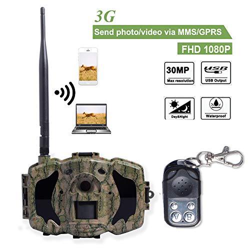 Bolyguard 3G Cellular Wildlife Trail Caméra WiFi GSM SMS MMS GPRS avec Vision Nocturne Infrarouge activé par Le Mouvement 30MP 1080p caméra de Chasse et de Surveillance avec télécommande