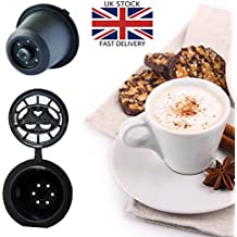 zeuspod cápsulas de recargable reutilizable cápsulas de café para Nespresso–5de café Pods–(Compatible con todas las máquinas Nespresso de después de octubre 2010)