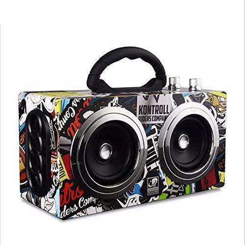 ZMH Tragbarer Bluetooth-Lautsprecher Drahtloser Stereo-Bass-Ton Im Freien HiFi-Lautsprecher 20W Großer Lautsprecher Mit TF-Karte FM-Radio,Colorful