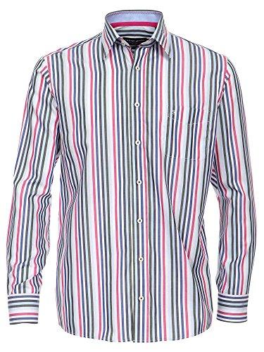 CASAMODA Herren Businesshemd 441906300 langarm Regular Fit Rot