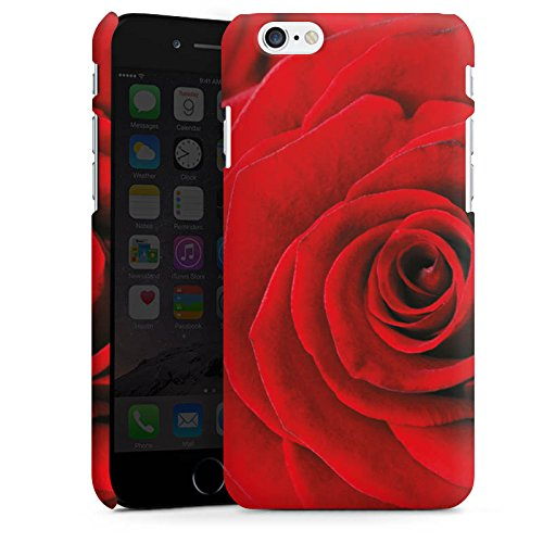 Apple iPhone X Silikon Hülle Case Schutzhülle Rot Rosen Blumen Premium Case matt