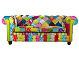 COLLINS & COOPER Divano Chesterfield Inglese Patchwork 3