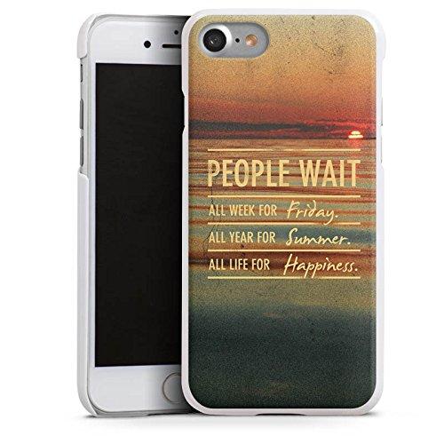 Apple iPhone X Silikon Hülle Case Schutzhülle Sprüche Sommer Glücklich Hard Case weiß