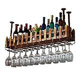 Qing MEI Gedrehtes Weinglashalter Weinglasgestell-Bar-Dekorationsrahmen des Festen Holzweinregals Kreativer Hängender (größe : 80x20cm)