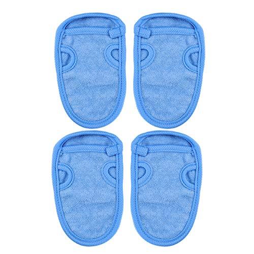 HEALIFTY Gants de Bain Exfoliants Gants de Gommage Gants de Douche 4pcs (Bleu)