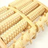 Willdo Wooden Dual Holz Fußmassagegerät, Fußmassager Roller Entlastung Plantar Fasciitis, Ferse Fußschmerzen, Stress Relief Massager Tool