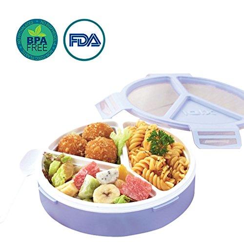 Oldpapa bento lunch box, contenitori per preparazione pasti, plastica riutilizzabile a 3 comparti scatole di contenitori di conservazione per alimenti suddivisi per bambini e adulti