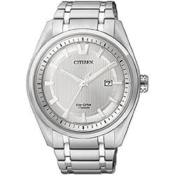 Citizen Herren-Armbanduhr Analog Quarz Titan AW1240-57A
