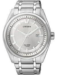 Citizen Herren-Armbanduhr XL Super Titanium Analog Quarz Titan AW1240-57A