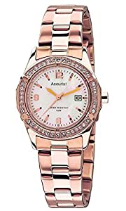 Accurist Women's Quartz Watch with Mother of Pearl Analogue Display and Stainless Steel Bracelet