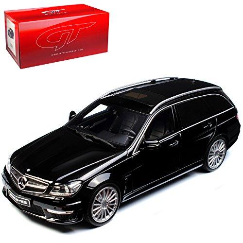 GT Spirit Mercedes-Benz C-Klasse C63 AMG S204 T-Modell Kombi Schwarz 2007-2014 Nr 760 1/18 Modell Auto mit individiuellem Wunschkennzeichen