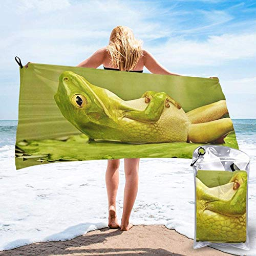 YUYUTE Badetuch, Funny Frog Picture Outdoors Microfiber Quick Dry Travel Towel,for Gym,Sports,Thin Lightweight,Shower Towels