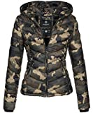 Marikoo Damen Jacke Stepp leichte Übergangsjacke Frühjahr Camouflage XS-XXL [B403-Kuala-Camo-Gr.L]