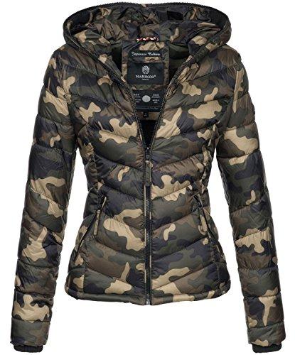 Marikoo Damen Jacke Stepp leichte Übergangsjacke Frühjahr Camouflage XS-XXL [B403-Kuala-Camo-Gr.XL]