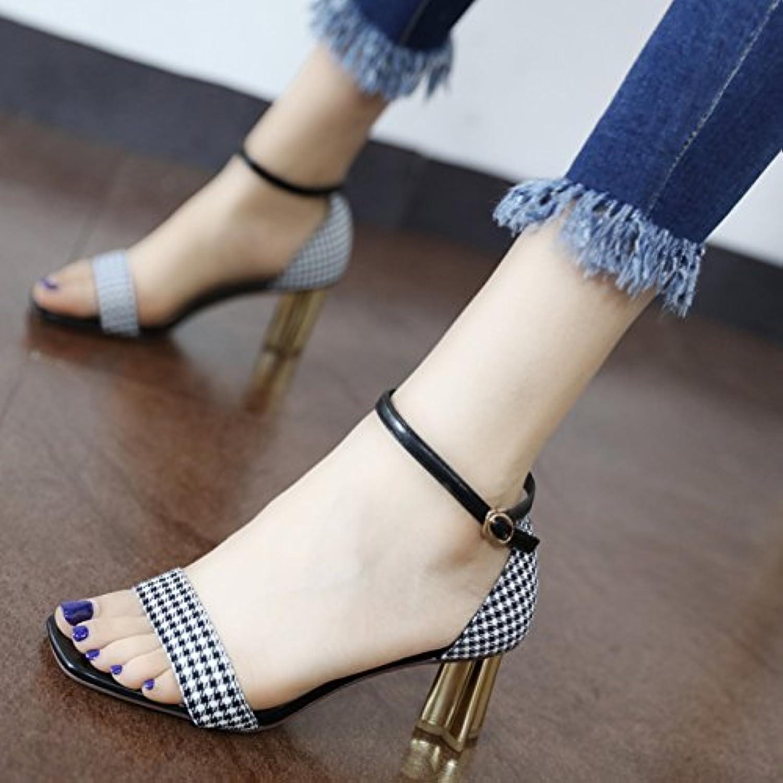 GaoXiao chaussures à talons toe haut la mode style avec de gros orteil toe talons des sandales.B07DGWW62YParent ee82ac