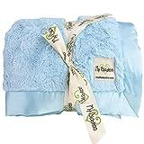 My Blankee Luxe Bella Throw Blanket, Blue, 52'' X 60'