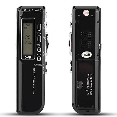 Eboxer Grabadora de Voz Digital de 8GB, Grabación Automática de 8GB Grabadora de Voz Compatible con 4 Modos de Grabación, Grabación de Llamadas Telefónicas y Multilenguaje