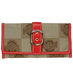 NCAA Ohio State Buckeyes Marlo Signature Wallet, Small