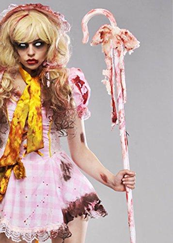 Zombie-Bo Peep Prop blutigen Crook (Kostüm Little Bo Peep)